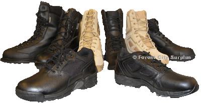 Magnum and Bates Combat Boots
